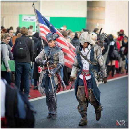 Rick Boer and his wife at F.A.C.T.S. Con 2012 in Belgium, cosplaying Aveline and Connor. Image via RBF-productions on DeviantArt