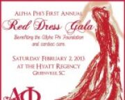 Go Red for Women: Alpha Phi's First Annual Red Dress Gala