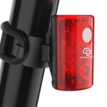 Cycle Torch MicroBot Taillight | Compact USB Rechargeable Bicycle Safety Rear Tail Light | Mountable Bike Taillight for City Commuters, Kids & Cyclists | Detachable Red LED Bicycle Blinker