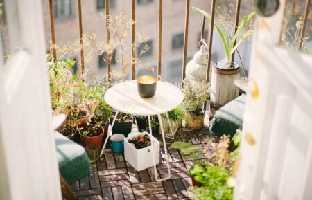 outdoor balcony