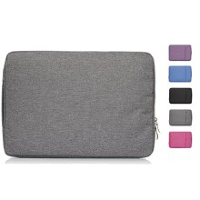 Hica Casual High-End Wearproof Polyester Fabric Sleeve Case Cover Carrying Protective Bag for Macbook,Tablet,Laptop,Ultrabook or Other Computers under 13 Inches,Gray