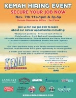 JOB FAIR 11/7 || Restaurant, Games, Hotel